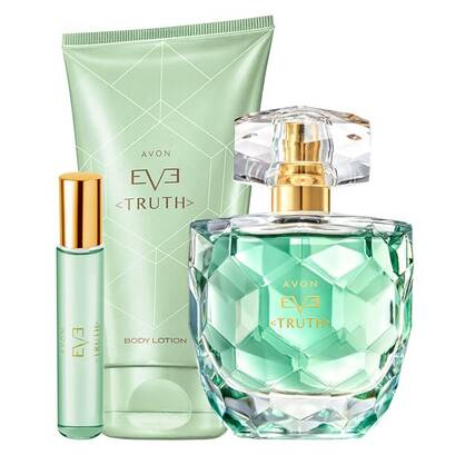 Zestaw  EVE TRUTH - woda perfumowana (50 ml) , balsam do ciala (150 ml) + perfumetka 10 ml