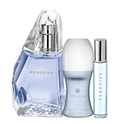 Zestaw Perceive ( Perceive 50ml ,Perfumetka Perceive 10ml,  dezodorant w kulce )